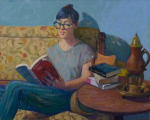 """MOLLY & MILO, 2017, 24""""x30"""", oil on canvas"""