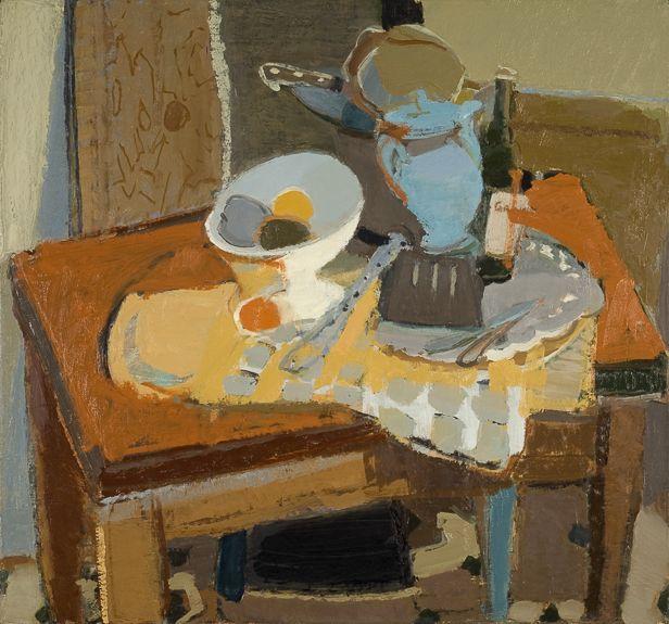 elizabeth geiger still life with blue teapot